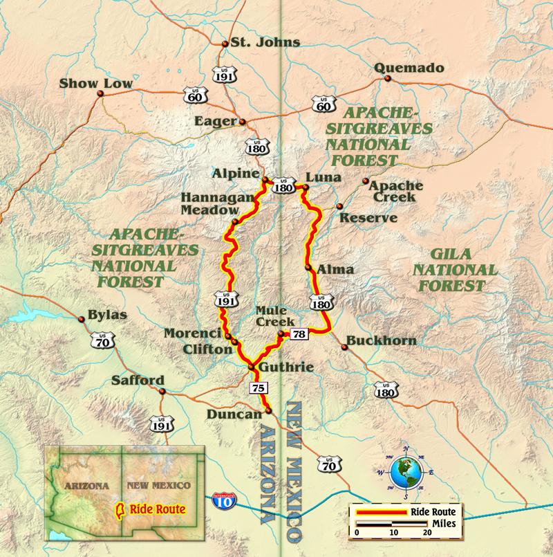 Arizona New Mexico motorcycle ride