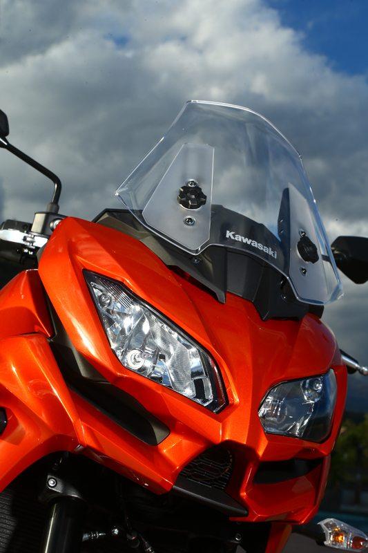 Styling of the new Versys 1000 (and 650) draws heavily from Kawasaki's Ninja sportbikes.