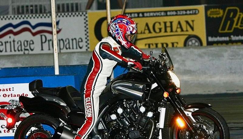 PeeWee on his Yamaha V-Max. Photo by Yamaha.