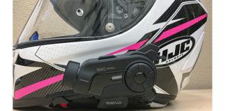 Sena 10C Pro installed on an HJC full-face helmet.