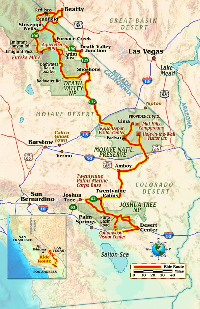 California deserts motorcycle ride